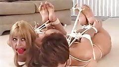 Two cutie girls nude hogtied