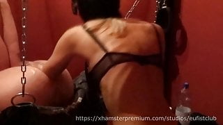 Anal Femdom Fisting in Sling Session 07 Adelina & Fistdude