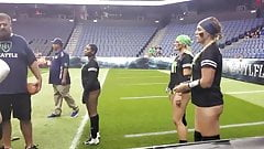 lfl warm up. big asses and one deep wedgie pick