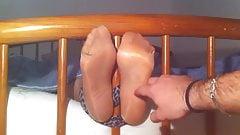 Tickling my Girlfriend Feet in Nylon
