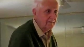 Grandpa enjoy his gift.