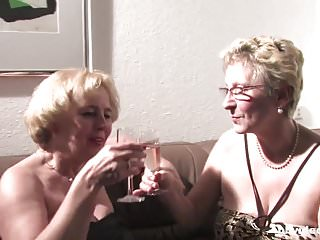 Twat lesbian Bbvideo.com german grannies plays with their twats