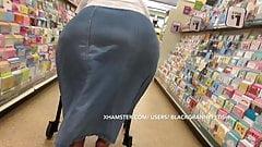 Black SSBBW Granny Super Colossal Ass Upskirt