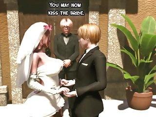 Fucked by the bride Shemale wedding day - tranny mommy fucks the bride, futanari