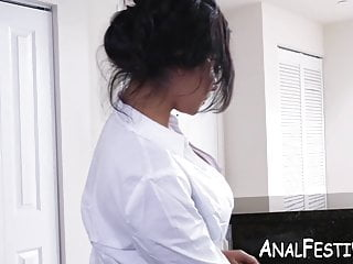 Lucious cock Lucious rose monroe shakes booty on dildo before sex