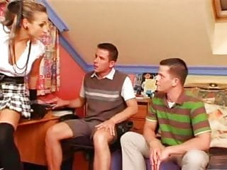 Gay celbreties Schoolgirl goddess makes 2 gay boys