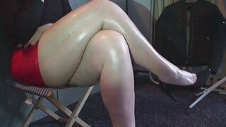 Shiny black heels 2