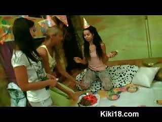 Party locations for teen birthdays Kiki gets a big cock present for her 18yo birthday party