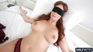 Thick blindfolded MILF
