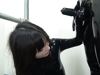 Asian caesar dressing recipe - Girl suck a latex cock of a master dressed in latexcatsuit