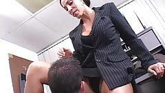 Employee fucks the boss and keeps his lousy job