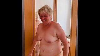 Granny Katharina undresses