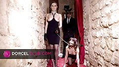 Ariel submissed to her dominatrix's perversions in SM club