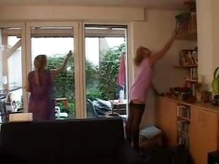Mature women in halter tops German cleaning women in the work