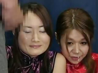 Real amature threesomes Real amatur bukkake 2 asian girls.avi