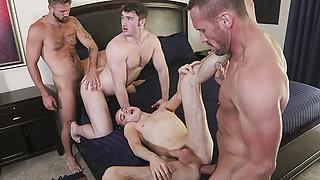 FamilyDick - Horny Step Daddys Swap Stepsons For A Family Orgy