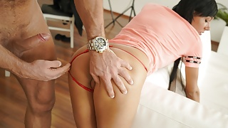 DEBT4k. Jobless Adelle Sabelle fucked by the muscled debt collector