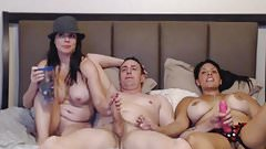 Sexy Babes Having Fun with Mature Guy