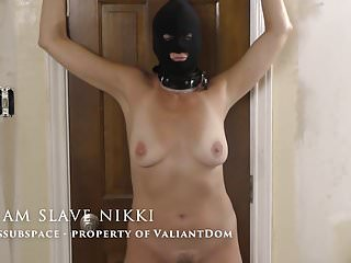 Vacuume tit torture - Slave nikki, first tit torture on video