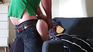 Brutal blow job german slut swallows BBJ