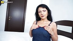 Horny housewife mom playing with herself