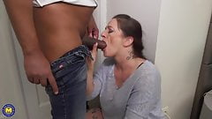 Buxom mothers pleasing young studs