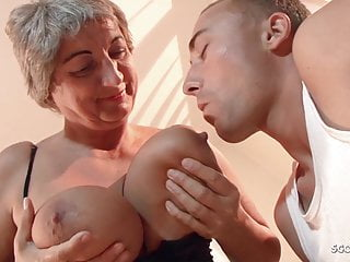 Old virgin fucked - Big saggy tits old granny seduce virgin grand son to fuck