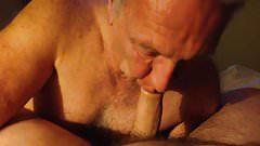 Sexy Daddy Sucks My Cock in Motel