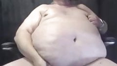 Big fat cock and belly daddy shoot big cum