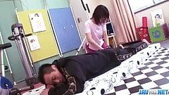 Insolent Rika Kitano goes wild on a tasty dick
