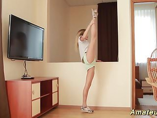 Sex stretches for women - Flexi teen stretching her limber body