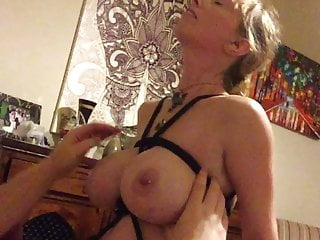 Dog tied porn tube Boltonwife tied tits bondage fuck 1