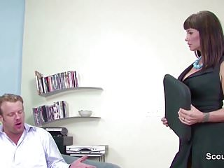 Employment for mature workers - Milf boss seduce big cock employer to fuck in casting