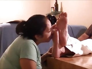 Master foot fetish links Slave at the feet of her master