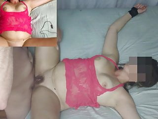 Tied up cocks cumming - Moanin mrs grey tied up, filled with cum, splitscreen videos