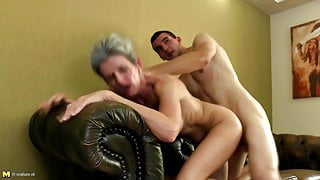 Mature moms bang young not their step sons