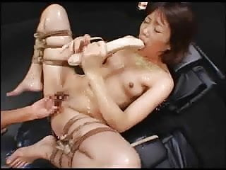Asian gagging on black xxx - Asian whore gagging on a dildo