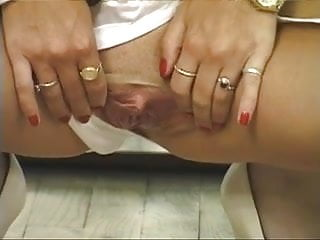 Plump black pink spread pussy - Gorgeous dirty blonde in white stockings spreads her little pink pussy