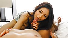 Raw cock sucking experience for Mayuka - More at Slurpjp.com