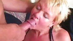 kissing Hot Blond Granny Is a Submissive When Fucking blond