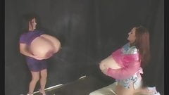 Vanessa and Holly Boob-Of