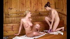 Lesbian Sex in a Sauna