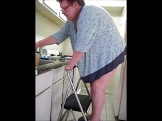 Girl cleans uncles apartment nude - Cleaning new apartment
