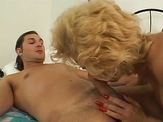 Blonde hairy pornstars - Milf bangs a young stud