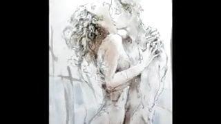 Erotic Watercolors of Juergen Goerg
