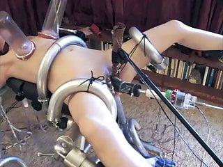 Extreme genital bondage Submissive wife extreme peehole