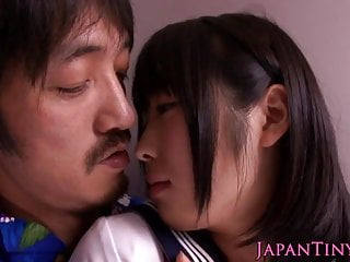 Nippon anal - Tiny nippon schoolgirls sucking cock in trio