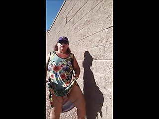 Peeing matures in public - Outdoor pee with loves2showall