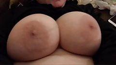 Titty shake loop big tit wife
