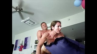 doggystyle and swinging tits into camera